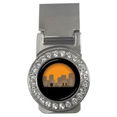 City Buildings Couple Man Women Money Clips (cz)  by Nexatart
