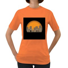 City Buildings Couple Man Women Women s Dark T-shirt