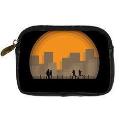 City Buildings Couple Man Women Digital Camera Cases by Nexatart