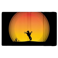 Horse Cowboy Sunset Western Riding Apple Ipad 2 Flip Case