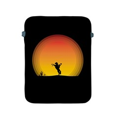 Horse Cowboy Sunset Western Riding Apple Ipad 2/3/4 Protective Soft Cases by Nexatart