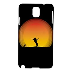Horse Cowboy Sunset Western Riding Samsung Galaxy Note 3 N9005 Hardshell Case