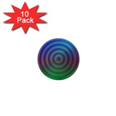 Blue Green Abstract Background 1  Mini Magnet (10 Pack)  by Nexatart