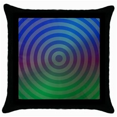 Blue Green Abstract Background Throw Pillow Case (black) by Nexatart
