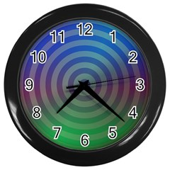 Blue Green Abstract Background Wall Clocks (black) by Nexatart