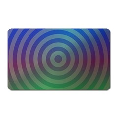 Blue Green Abstract Background Magnet (rectangular)