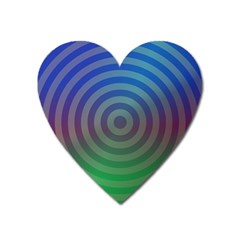 Blue Green Abstract Background Heart Magnet