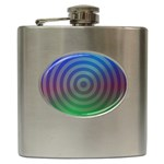 Blue Green Abstract Background Hip Flask (6 oz) Front
