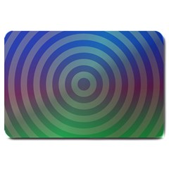 Blue Green Abstract Background Large Doormat