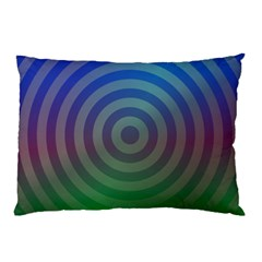 Blue Green Abstract Background Pillow Case