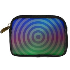 Blue Green Abstract Background Digital Camera Cases by Nexatart