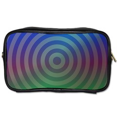 Blue Green Abstract Background Toiletries Bags 2 Side