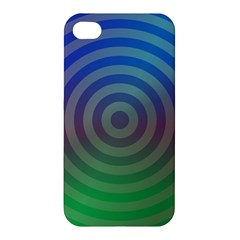 Blue Green Abstract Background Apple Iphone 4/4s Premium Hardshell Case