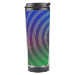 Blue Green Abstract Background Travel Tumbler by Nexatart