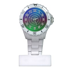 Blue Green Abstract Background Plastic Nurses Watch by Nexatart