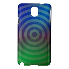 Blue Green Abstract Background Samsung Galaxy Note 3 N9005 Hardshell Case by Nexatart