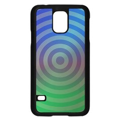 Blue Green Abstract Background Samsung Galaxy S5 Case (black) by Nexatart