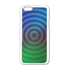 Blue Green Abstract Background Apple Iphone 6/6s White Enamel Case by Nexatart