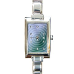 Teal Background Concentric Rectangle Italian Charm Watch