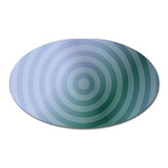 Teal Background Concentric Oval Magnet