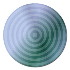 Teal Background Concentric Magnet 5  (round) by Nexatart