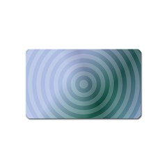 Teal Background Concentric Magnet (name Card) by Nexatart