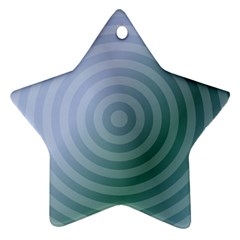 Teal Background Concentric Star Ornament (two Sides)