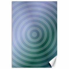 Teal Background Concentric Canvas 12  X 18