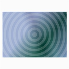 Teal Background Concentric Large Glasses Cloth