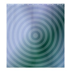 Teal Background Concentric Shower Curtain 66  X 72  (large)  by Nexatart
