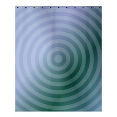 Teal Background Concentric Shower Curtain 60  X 72  (medium)