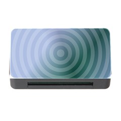 Teal Background Concentric Memory Card Reader With Cf by Nexatart