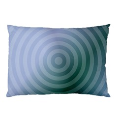 Teal Background Concentric Pillow Case (two Sides)