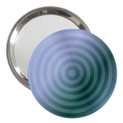 Teal Background Concentric 3  Handbag Mirrors
