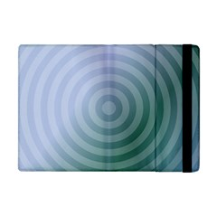 Teal Background Concentric Apple Ipad Mini Flip Case