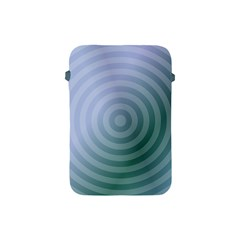 Teal Background Concentric Apple Ipad Mini Protective Soft Cases