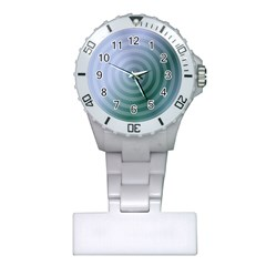 Teal Background Concentric Plastic Nurses Watch by Nexatart