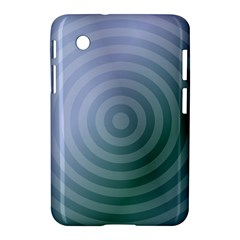Teal Background Concentric Samsung Galaxy Tab 2 (7 ) P3100 Hardshell Case  by Nexatart