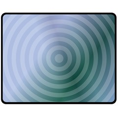Teal Background Concentric Double Sided Fleece Blanket (medium)  by Nexatart