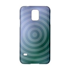 Teal Background Concentric Samsung Galaxy S5 Hardshell Case  by Nexatart