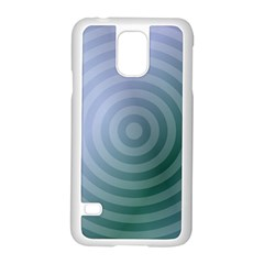 Teal Background Concentric Samsung Galaxy S5 Case (white)