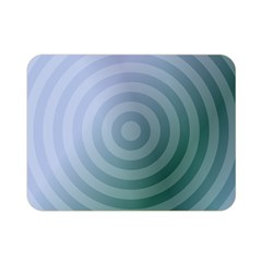 Teal Background Concentric Double Sided Flano Blanket (mini)  by Nexatart