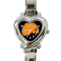 Couple Dog View Clouds Tree Cliff Heart Italian Charm Watch