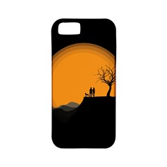 Couple Dog View Clouds Tree Cliff Apple Iphone 5 Classic Hardshell Case (pc+silicone) by Nexatart