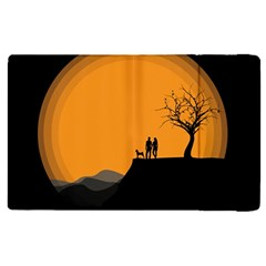 Couple Dog View Clouds Tree Cliff Apple Ipad Pro 9 7   Flip Case by Nexatart
