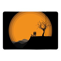 Couple Dog View Clouds Tree Cliff Apple Ipad Pro 10 5   Flip Case
