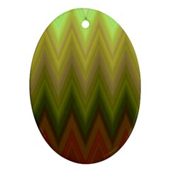 Zig Zag Chevron Classic Pattern Oval Ornament (two Sides) by Nexatart