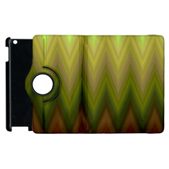 Zig Zag Chevron Classic Pattern Apple Ipad 2 Flip 360 Case by Nexatart