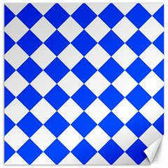 Blue White Diamonds Seamless Canvas 12  X 12   by Nexatart