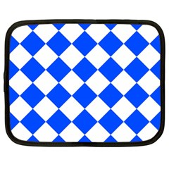 Blue White Diamonds Seamless Netbook Case (xl)